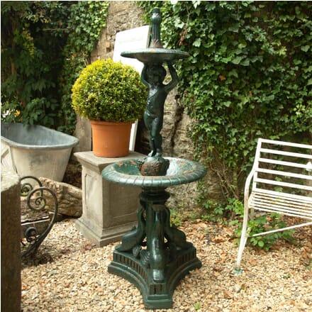 19th Century Cast Iron Two Tier Fountain GA4262483