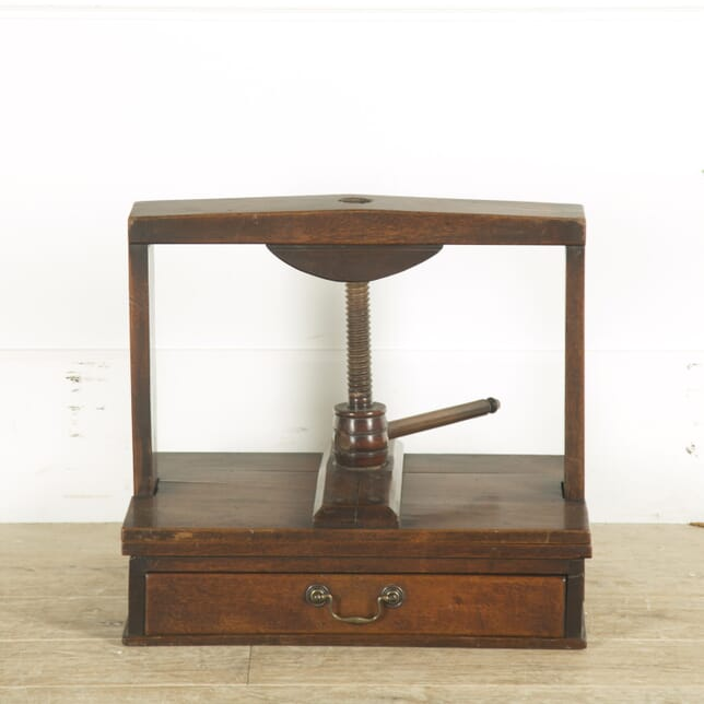 Late 18th Century English Oak Book Press OF889697