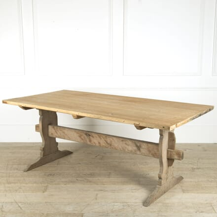 Late 18th Century Swedish Trestle Table TD019215