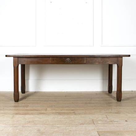 Late 19th Century French Chestnut Farmhouse Table TD8817369