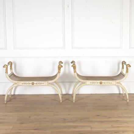 Late 19th Century Pair of Italian Window Seats SB0313727