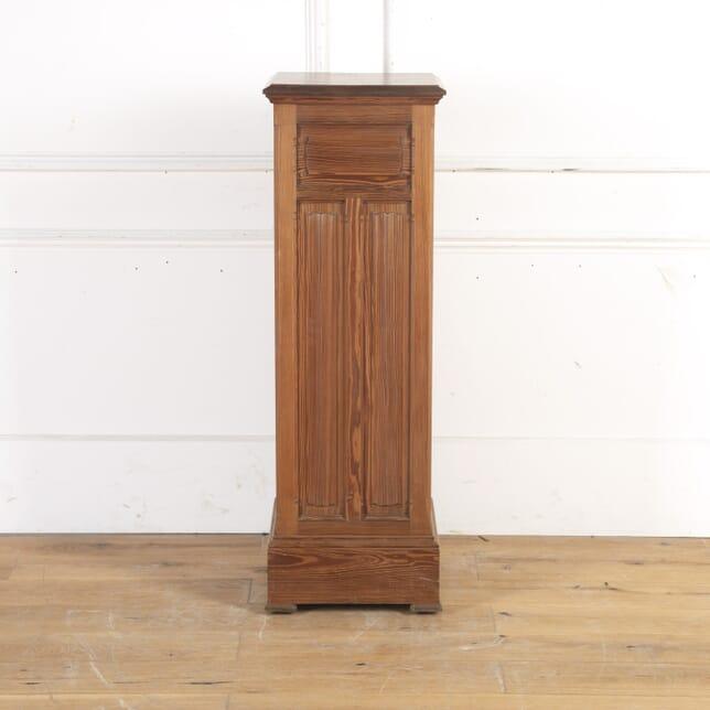 19th Century Pitched Pine Linen Fold Pedestal BK8214242