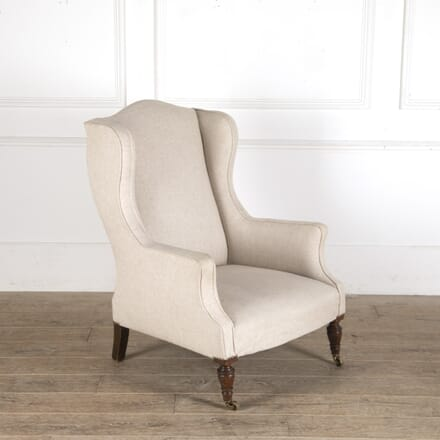 Late 19th Century Upholstered Wing Armchair CH2913551