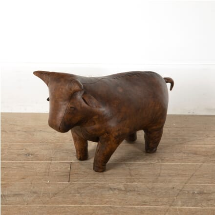 Leather Bull Footstool ST1511549
