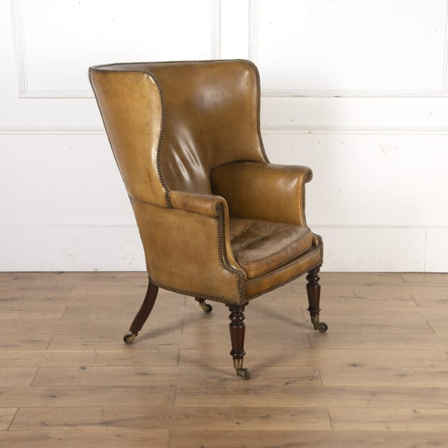 19th Century Leather Wing Armchair CH8016029
