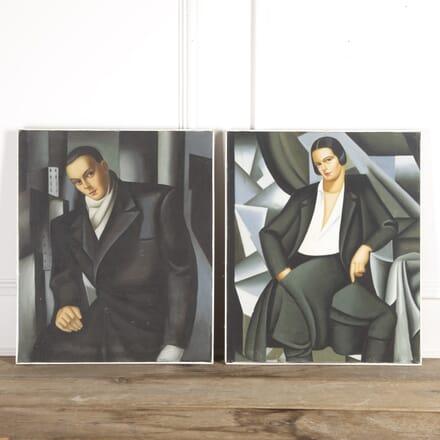 Pair of Tamara De Lempicka Style Paintings DA8717066