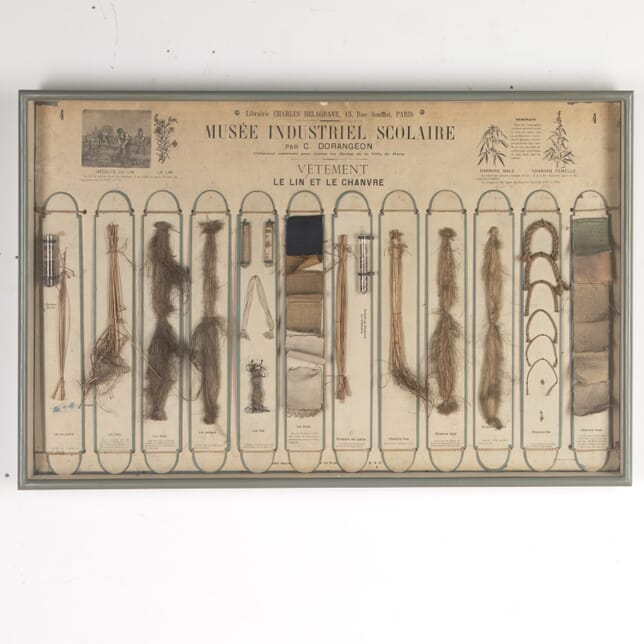 French 19th Century Industrial Linen Chart WD7615190