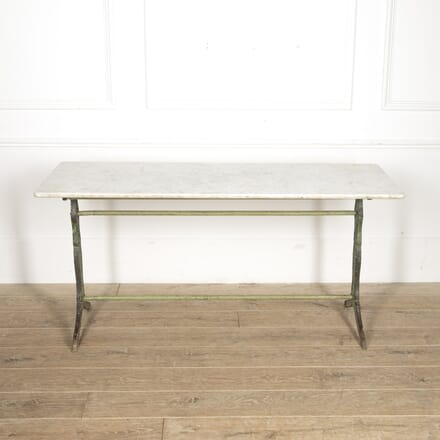 Long Bistro Table with Marble Top TD1515380