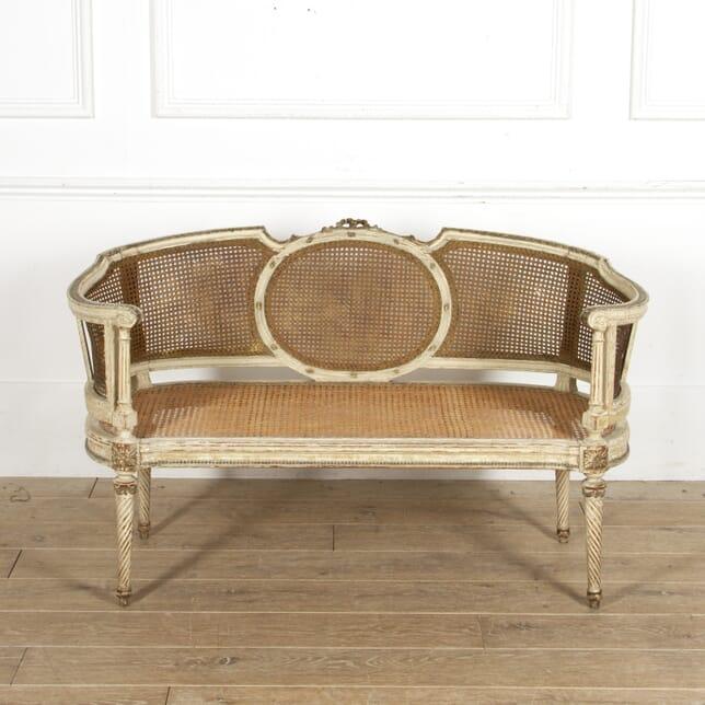 Louis XVI Revival Caned Banquette CH1517606