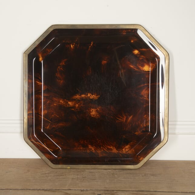 French Lucite and Brass Tray DA3016010