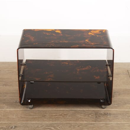 French Faux Tortoiseshell Lucite Trolley TS3016292