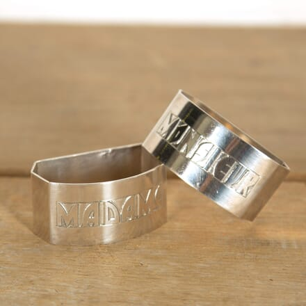 Madame and Monsieur Napkin Rings DA159079