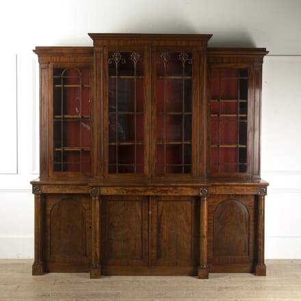 Mahogany Breakfront Bookcase attributed to George Smith BK9913716