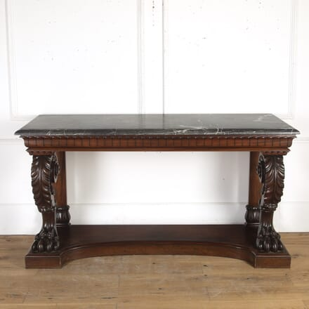 Mahogany Carved Console Table CO1015634