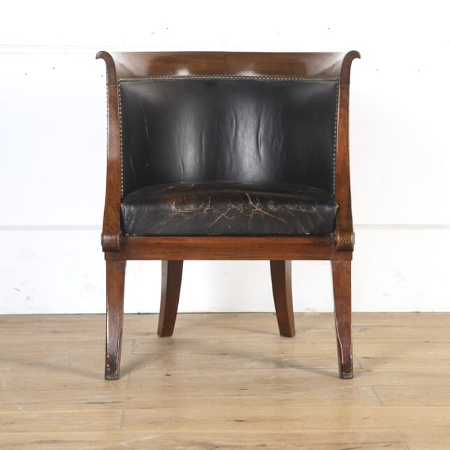 Mahogany Desk Tub Chair CH8413922
