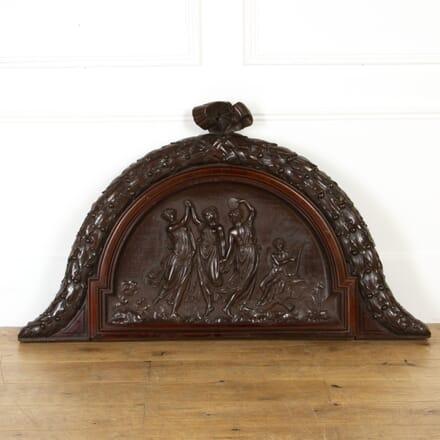 19th Century Mahogany Overdoor GA4317705