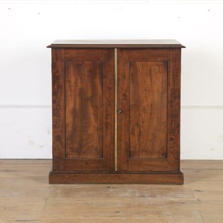 Mahogany Two-Door Collector's Cabinet BU8013784