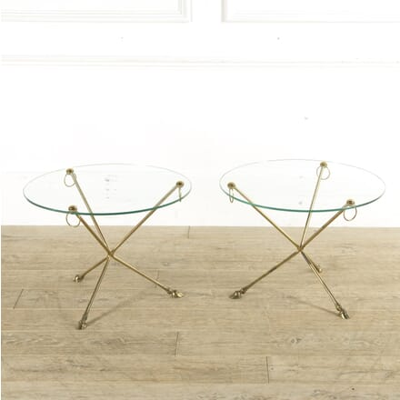 Maison Jansen Style Brass Hoof Feet Tables CO4110248