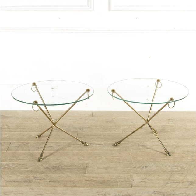 Maison Jansen Style Brass Hoof Feet Tables CO4110248