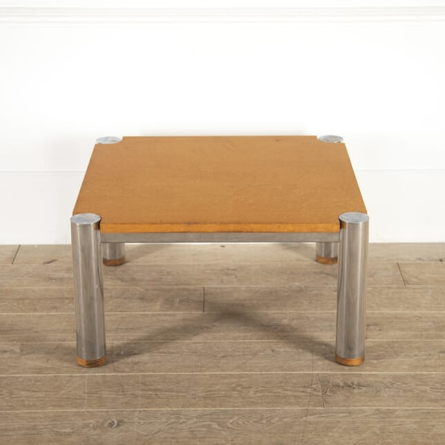 Maple and Chrome Coffee Table CT7814483