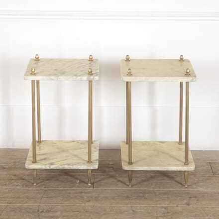 Pair of French Brass and Marble End Tables CO3514250