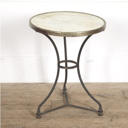 Bistro Style Gueridon with Marble Top GA1515215