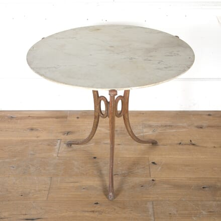 French Iron Table with Marble Top TA3615147