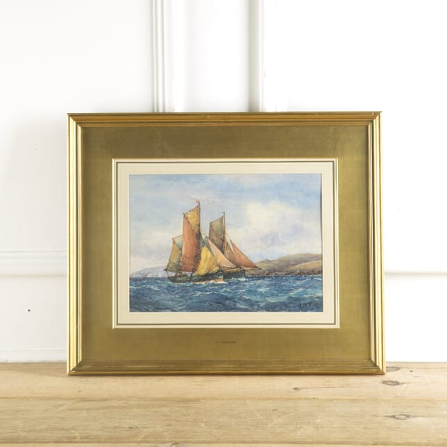 Marine Watercolour Painting by F J Aldridge WD889713