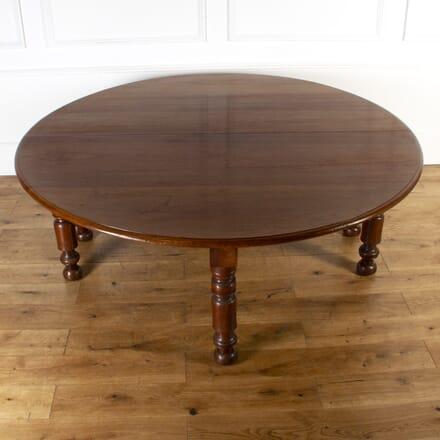 French 19th Century Walnut Round Table TD0317182