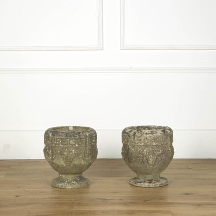 Matched Pair of Garden Urns GA439441