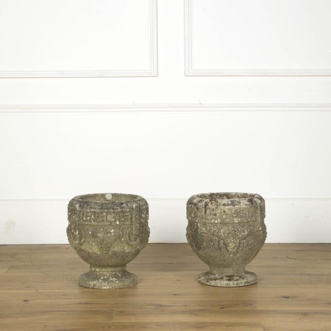 Matched Pair of Garden Urns GA439441