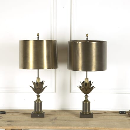 Pair of Maison Charles Lotus Lamps LT299828