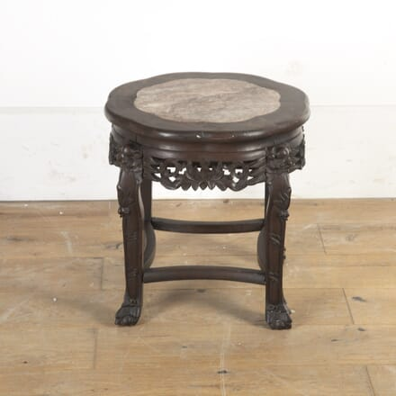 Chinese Hardwood and Marble Occasional Table TC5816526