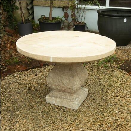 Medium Limestone Oval Table GA1910874