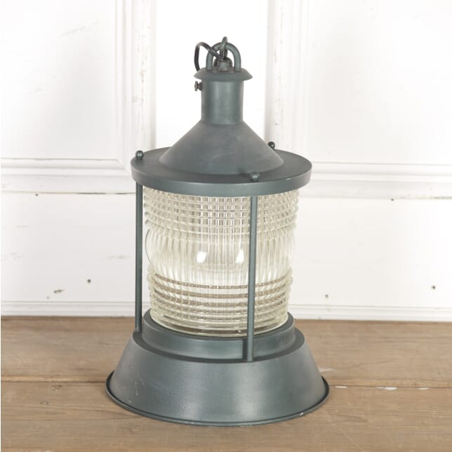 French Metal and Glass Storm Lantern LL4315162