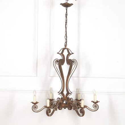 Large French Metal Chandelier LC2016650