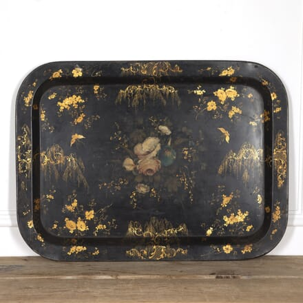 Chinoiserie Painted Tole Tray DA1316770