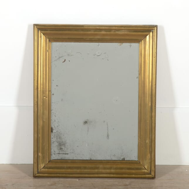 19th Century French Brass Bistro Mirror MI1555396