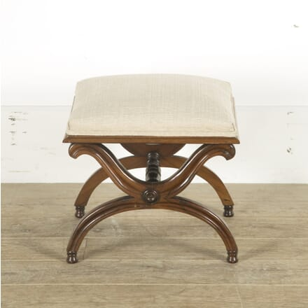 Early 19th Century English Rosewood X Form Stool ST889688