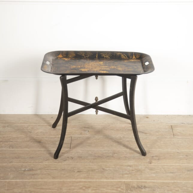 English Toleware Tray on Stand CO8815092
