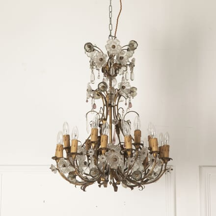 Mid Century Chandelier with Gilt Frame LC4812928