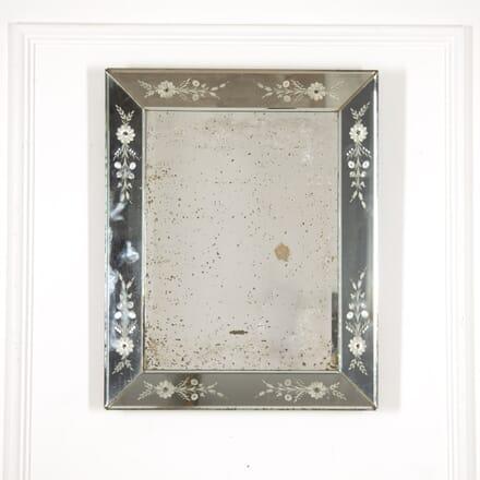 Italian Mid Century Glass Cushion Mirror MI2914861