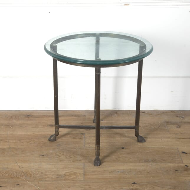 Mid Century Glass and Brass Side Table CO3610455