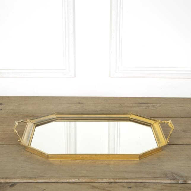Mid Century Golden and Mirror Cocktail Tray BK589626