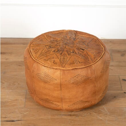 Mid Century Leather Pouffe BD7110807