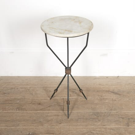 Mid Century Marble Topped Tripod Table CT2915895