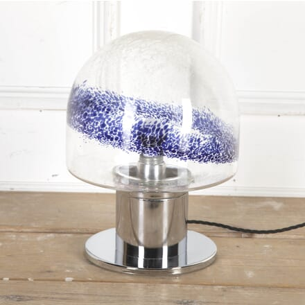 Mid Century Murano Glass and Chrome Table Lamp LT8715313