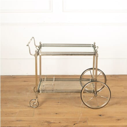 Mid Century Silvered Drinks Trolley CT5911327