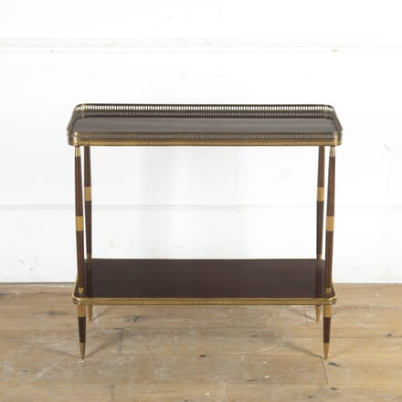 Mid Century Brass and Rosewood Side Table CO5816317