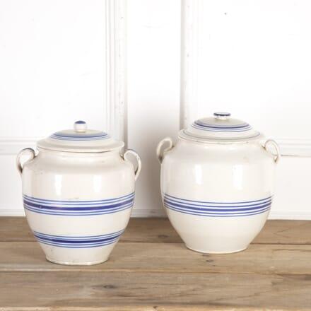 French Blue and White Confit Pots DA7115440